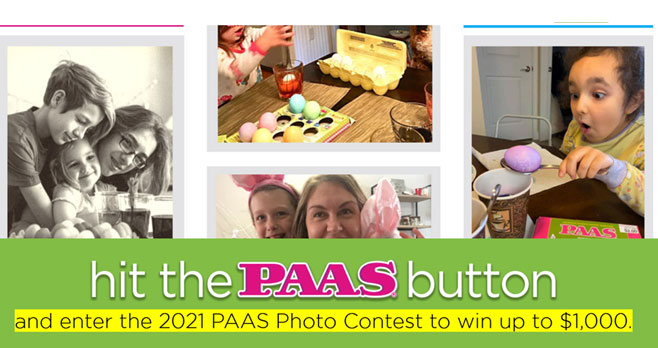 PAAS Easter Eggs Hit the PAAS Button Contest