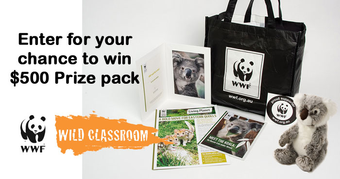 Enter the World Wildlife Fund Work Out Your Wild Side Sweepstakes for your chance to win a class/family set of Wild Classroom activity books, stickers, and small plush animals, as well as a one-on-one web call with a WWF expert to be scheduled near Endangered Species Day which is May 21st this year.