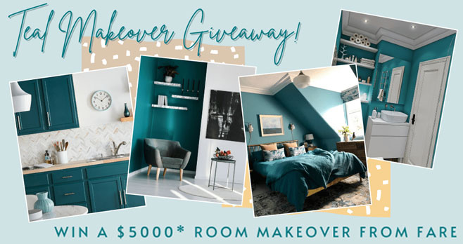 FARE Teal Room $5,000 Makeover Video Contest