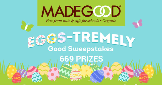 Madegood is giving away a $500 Target gift card and 667 coupons for a FREE MadeGood product! MadeGood is the perfect bite-sized, healthy snacks for your egg hunts. MadeGood'slimited Easter boxes are now available at Target.