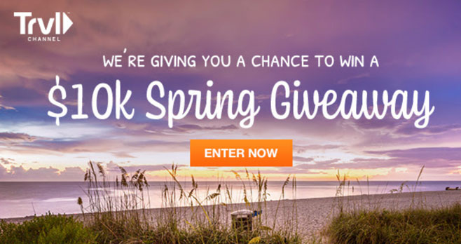Enter for your chance to win a $10,000 cash prize from the Travel Channel's Spring Sweepstakes.
