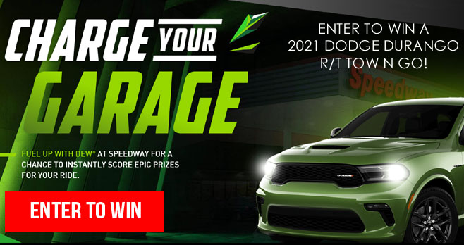 Mtn Dew & Speedway Charge Your Garage Instant Win Game
