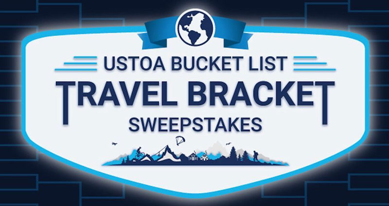 Enter for your chance to win a trip for two with a USTOA tour operator to the destination that champions the bracket. #MarchMadness Plus, the trip will be available for travel through December 31, 2023, so you have plenty of time to bounce back into globetrotting.