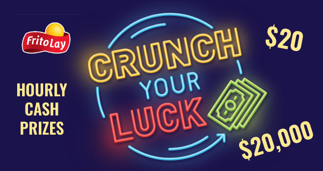 Frito-Lay is giving away $20 in #Venmo or #PayPal cash every hour through May 1st PLUS one lucky weekly winner will win $20,000 in cash!