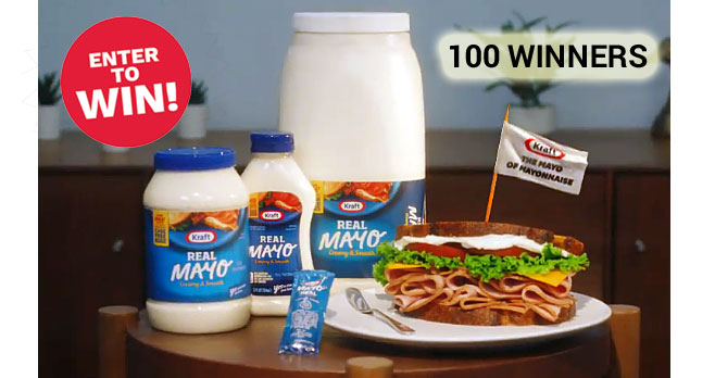 100 WINNERS! Are you, or someone you know, suffering from mayophobia - the senseless fear of mayonnaise? Help is here. Enter for a chance to win 1 of 100 Real Kraft Mayo Overcoming Mayophobia Kits #mayophobia #sweepstakes