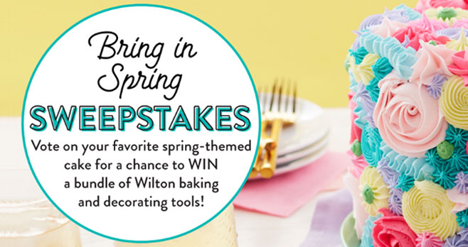 Vote for your favorite spring-themed cake for your chance to win a bundle of Wilton baking and decorating tools to help you create the very best cake for Easter #giveaway