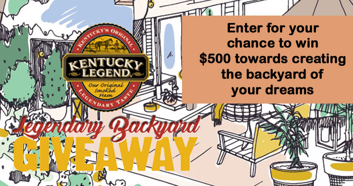 Kentucky Legend is giving one lucky family $500 towards creating the backyard of their dreams. When you look at your outdoor space, what possibilities do you imagine?  Whether it's a new garden, patio set, fireplace or hot tub, Kentucky Legend wants you to have your own personal oasis for enjoying legendary times with family and friends.