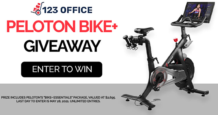 Enter for your chance to win aPeloton Bike+ Essential Package valued at $2,695 that includes 1 Peloton Bike+, 1 Pair of Cycling Shoes, 1 Pair of Weights, 1 Reversible Workout Mat, Home Delivery, and a 12-Month Limited Warranty.