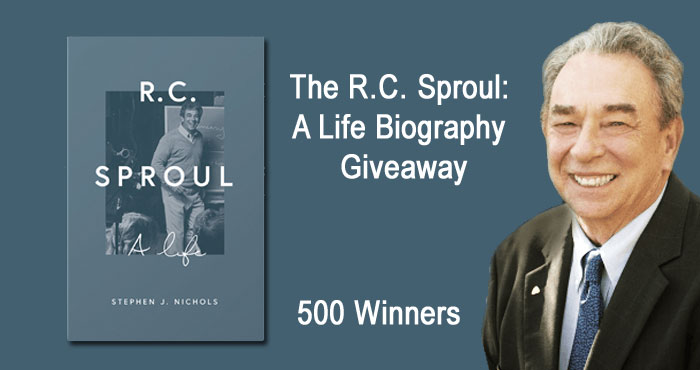 500 WINNERS! Enter for your chance to win a copy of Best selling biography titled R.C. Sproul: A Life by Stephen J. Nichols.