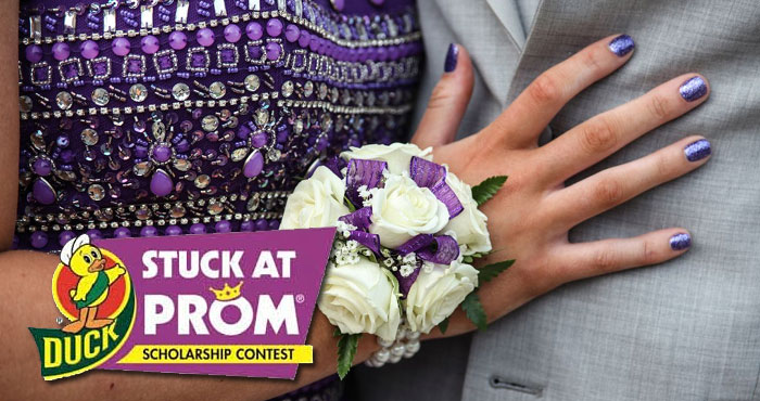 The famous Duck Brand Prom dress contest is here again. Duck Brand is giving away $20,000 in cash scholarships to high school students who make the best prom attire out of Duck Brand Duct Tape.