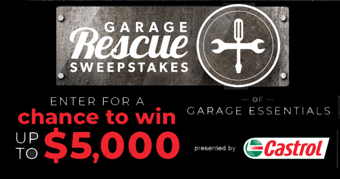 Enter for your chance to win up to $5,000 in garage essentials from CRAFTSMAN in the Discovery Channel Ultimate Garage Rescue Sweepstakes