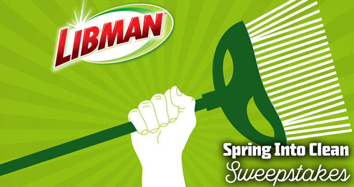 Get a jump on your Spring Cleaning with the #LibmanClean Spring Into Clean Sweepstakes! Enter for a chance to win 1 of 9 different prize packages, including Libman Brooms, Mops, and more!
