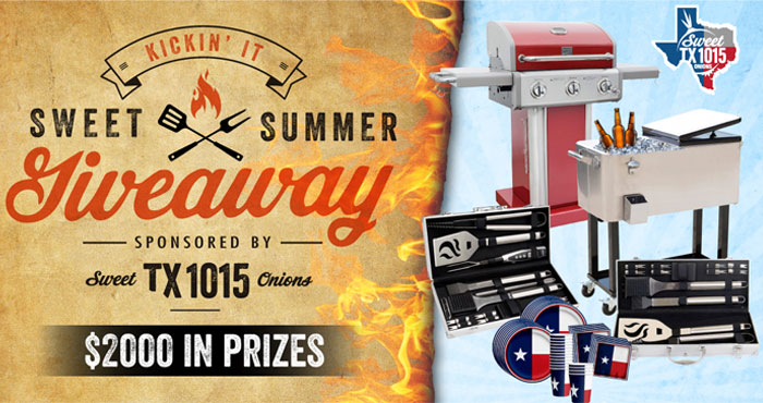 Enter for your chance to win the Ultimate Texas Summer Party prize package which includes a Kenmore Gas Grill, 20 piece stainless grilling set, Roling Drink bin and Texas Partyware Kit plus 13 other winners will receive either a Keeping it Cool in Texas Party Package or a Grillin' in Texas Party Package