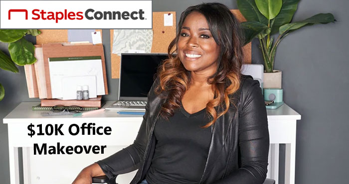 Staples Connect introduces it's first-ever home office makeover sweepstakes called #RemoteOfficeRedo One grand prize winner will receive a complete home office upgrade from Staples valued at up to $10,000 and design consultation with TV personality and interior designer Tiffany Brooks! #RemoteOfficeRedo #sweepstakes @staplesstores Plus 20 more lucky winners will receive $1K in Staples Gift Cards to refresh their WFH spaces.