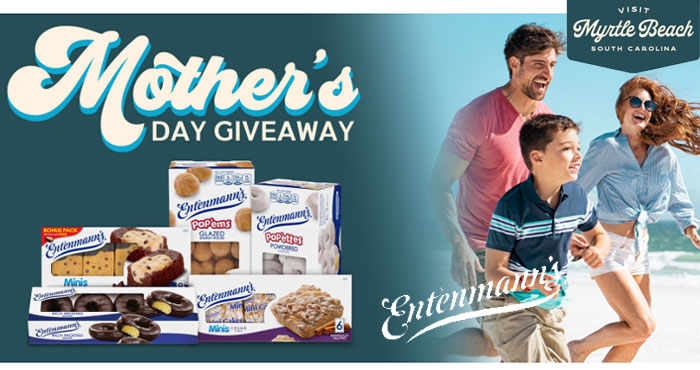 Enter for the chance to WIN a family trip to Myrtle Beach from Entenmann's! Plus 7 daily entries will be selected at random for a FREE Entenmann's product. #giveaway
