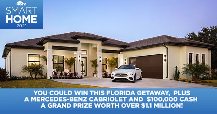 The 2021 HGTV Smart Home Giveaway is Live with a prize package valued over 1.1 million! Enter for your chance to win This coastal-inspired house has a variety of design concepts, color stories and high-tech gadgetry.