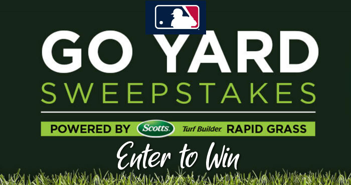 Up to 3,000 WINNERS! Enter the Scotts Go Yard #Sweepstakes for a chance to win a bag of Scotts® Turf Builder® Product with every first inning leadoff home run