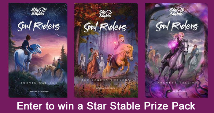Enter for your chance to win a Star Stable Soul Riders prize pack that includes the book series and a Star Stable Online Lifetime Membership. A prize valued at $100