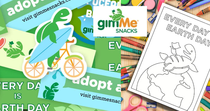 Earth Day is coming on April 22nd and gimMe Snacks is giving away Free Earth Day Stickers. You can choose from six different Earth Day stickers to request. Get your Free Earth Day coloring book