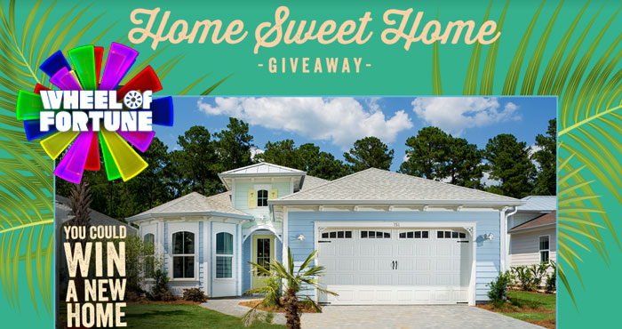 Tune into Wheel of Fortune April 26 - April 30th for you chance to win in their Home Sweet Home Giveaway III. Wheel of Fortune is giving away a brand new home located in a Latitude Margaritaville Community in either Daytona Beach, FL, Hilton Head, SC or Watersound, Florida,