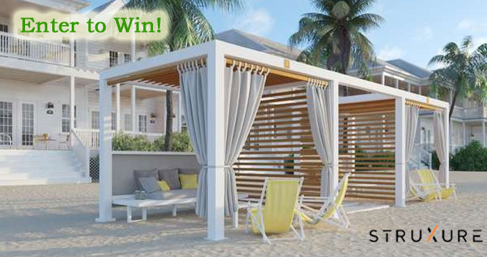 Enter Bob Vila's $7,000 Backyard Oasis Giveaway with StruXuredaily to increase your chances of winning a Cabana X shade solution for your home.