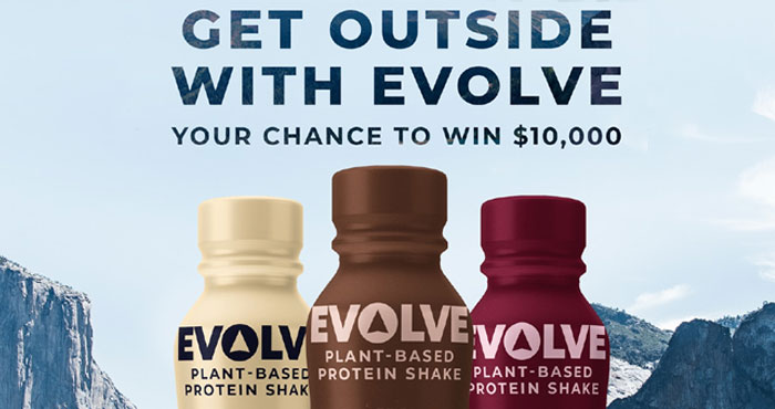 Follow and tag @DrinkEvolve and share which national park you dream of visiting using #GetOutsideWithEvolve #Sweepstakes to be entered for a chance at winning $10,000 to help make it happen plus 150 other winners will receive some great prizes too