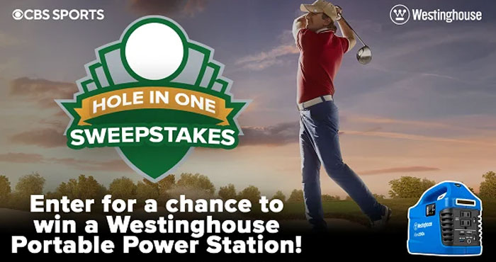 Enter for your chance to win a Westinghouse Outdoor Power Station and Generator from the CBSSports Hole in One #Sweepstakes. Download the CBS Sports app for free to get bonus entries. Every Play, Every Score and Every Highlight - Right as they Happen!