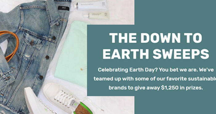 Enter for your chance to win $250 gift cards from NAADAM, ABLE, Act + Acre, Aurate and Cariuma in the Down To Earth Sweepstakes #giveaway
