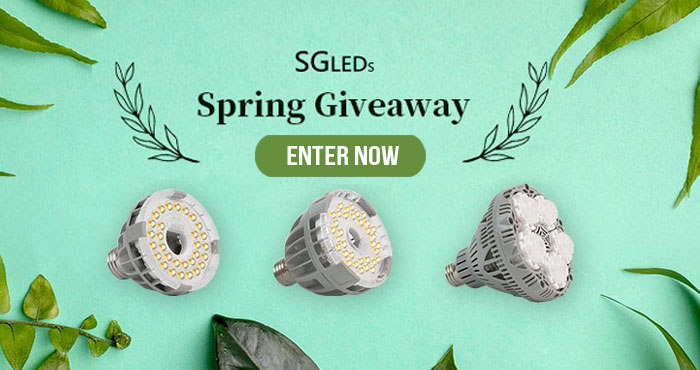 Enter for a chance to win full spectrum LED grow lights from Sansi Lighting for your spring plants/vegetables. SGLEDS grow bulbs simulate natural sunlight that is suitable for almost all types of indoor growing plants. You can use it in growing fruits, vegetables and many other plants, offering them an extra boost in production.
