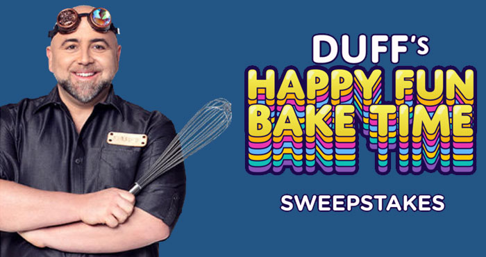 Enter for your chance to win Duff Happy Fun Bake Time BOX'd from Popsugar and Discover+. Sweepstakes winners will receive a curated BOX'd in honor of discovery+'s new show, Duff's Happy Fun Bake Time. But that's not all: One lucky grand-prize winner will receive $1,000 towards their ultimate watching experience!