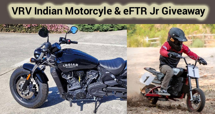VRV (Voluntary Refund Value) conducts a weekly word game giveaway with cash prizes PLUS if you participate in their weekly recycling program you have the chance to win a new 2021 Indian Scout 60 ABS motorcyrcle with a two year warranty or one of two Indian eFTR Jr bikes (for kids)