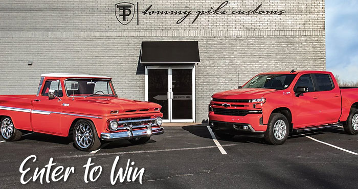 Here's your chance to win a brand new 2021 Chevrolet Silverado or C10 truck customized by Tommy Pike Customs. When the Quaker State400 rolls into Atlanta on July 11th, YOU COULD WIN BIG
