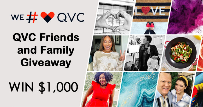 "You know you love @QVC so why not join their new ""We #loveQVC"" Facebook Group and enter daily for your chance to win a $1,000 QVC egiftcard"