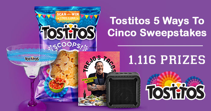 Celebrate Cinco de Mayo with Tostitos and get the chance to meet Danny Trejo or win fun Cinco-themed prizes when you enter the Tostitos 5 Ways To Cinco Sweepstakes #Cincodemayo