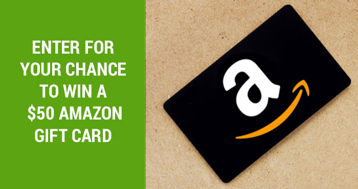 Enter for your chance to win a $50 Amazon gift card