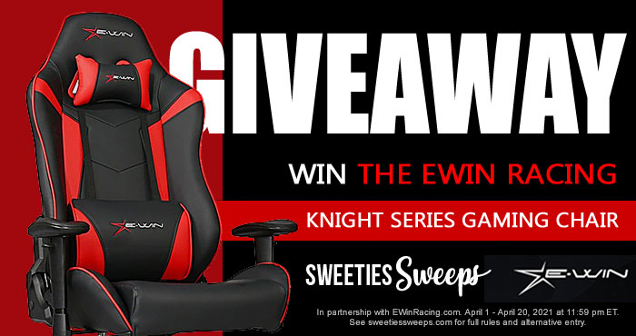 Sweeties Sweeps is partnering with EwinRacing.com to give you the chance to win an Awesome Ergonomic gaming chair from the EWin Knight Series.