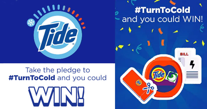 Take the pledge to #TurnToCold by washing clothes in cold water and you could win great prizes in Tide's #TurnToCold with Tide and Win Sweepstakes. Did you know that washing in cold water can reduce your energy use by 90%? Join the Cold Callers in their mission for a better future!