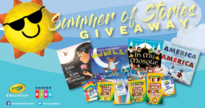 Enter below for a chance to win a colorful set of Crayola art tools and four beautifully illustrated books from HarperKids for an endless Summer of Stories.