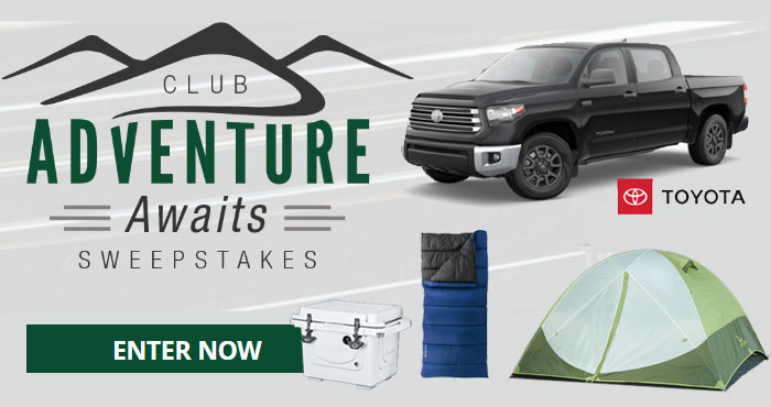 Enter for your chance to win 2021 Toyota Tundra Trail SE Camping Package plus camping gear for the road when you enter the Bass Pro Shops and Cabela's Adventure Awaits Sweepstakes