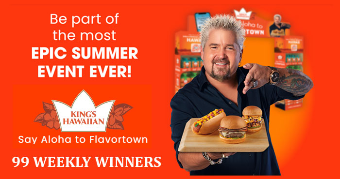 Enter for your chance to win a trip to Hawaii for a Guy Fieri approved culinary escape valued at $15,000! Plus weekly winners will win an Aloha Grilling Package or an Aloha ts-shirt.