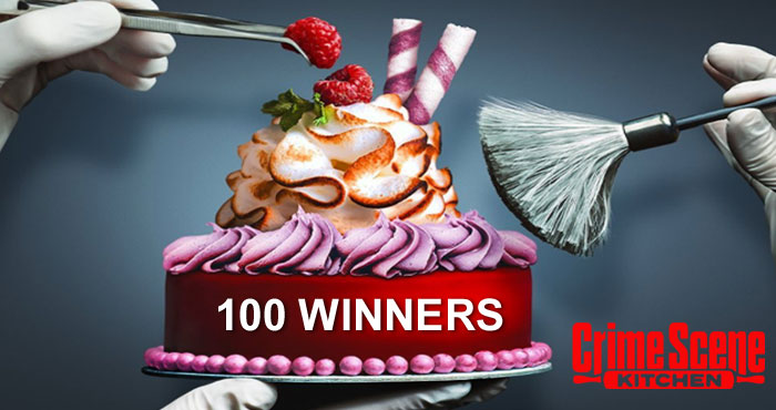 """100 WINNERS! Guess the mystery ingredients for your chance to win a Mystery Cake Kit. In celebration of the new Fox TV show, """"Crime Scene Kitchen"""", The Caker is giving away 100 mystery cake kits. All you have to do to enter is guess the mystery ingredients."""