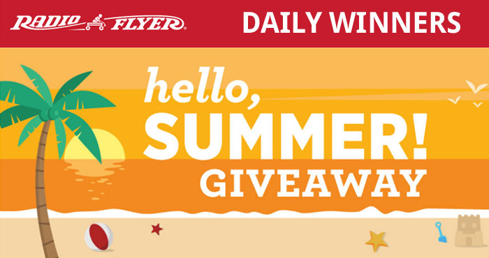 To help families discover fun new ways to play this Summer, Radio Flyer is giving away one product a day during the #HelloSummer Giveaway! Be sure to check back daily for the latest giveaway and enter for your chance to win.