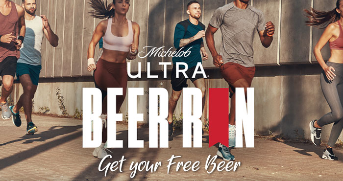 Michelob ULTRA is encouraging people to get outdoors and get active, safely, with their go-to fit squad by allowing them to trade their miles for FREE beer. #ULTRABeerRun Free beer is given in the form of a $5 virtual debit card