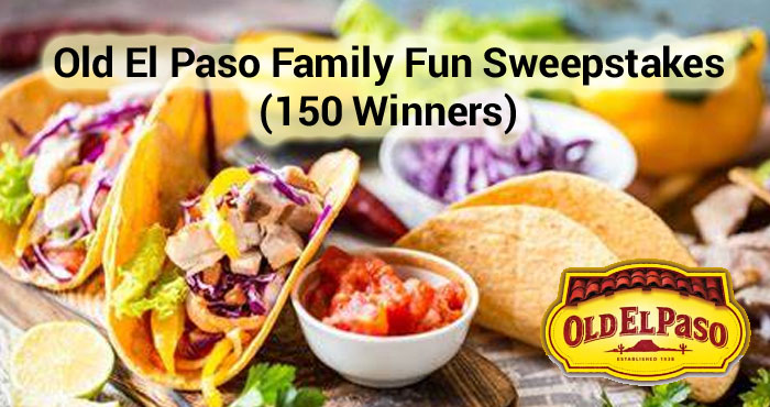 150 WINNERS! Enter the Old El Paso Family Fun Sweepstakes for your chance to win 1 of 150 family fun prize packs! One entry per household