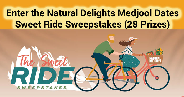 Enter Natural Delights Medjool Dates Sweet Ride Sweepstakes between May 10 and May 21 and you could be taking in the scenery from a brand new Trek bicycle!