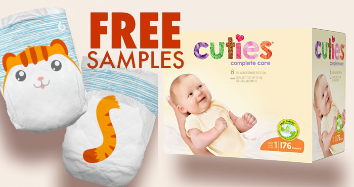 FREE Cuties Complete Care Diapers Sample Kit