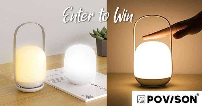 Win a Povison Rechargeable Color Changing Touch Lamp with Sweeties Sweeps