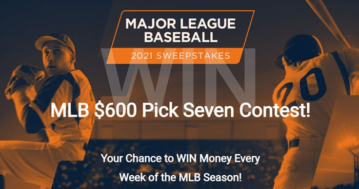 Here's your chance to WIN Money every week of the MLB Season! Winners will receive $600 cash paid through PayPal. This cash sweepstakes is 100% FREE to play, and is your chance to WIN prizes every week of the Major League Baseball season!