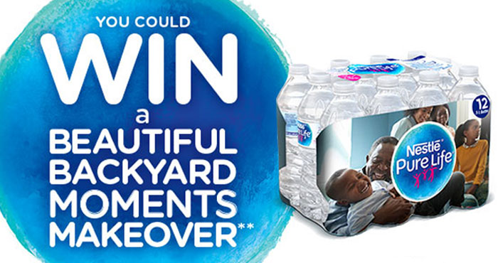 Share your #purelifemoment for your chance to win $7,500 that you can use for a backyard makeover. Make sure to tag @walmart @purelifeus #giveaway Or you can register and upload a photo on the website