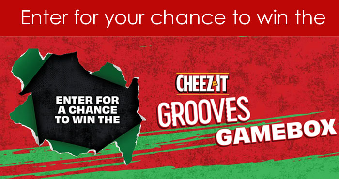 Enter for your chance to win the Cheez-It Grooves Gamebox. Tune into the Overwatch League the weekend of June 25th for the announcement of the Cheez-It Grooves Gamebox Winners. Watch every match live on the Overwatch League YouTube page. Subscribe and never miss a match!